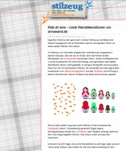 Ein Bild von einem Blog: stilzeug, der smatch.com Blog, berichtet regelmäßig über Mode, Fashion und Lifestyle News.