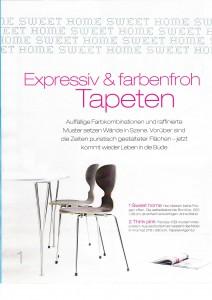 Mehr expressiv als farbenfroh: Unsere selbstklebende Bordüre HOME SWEET HOME in 35 x 250 cm.