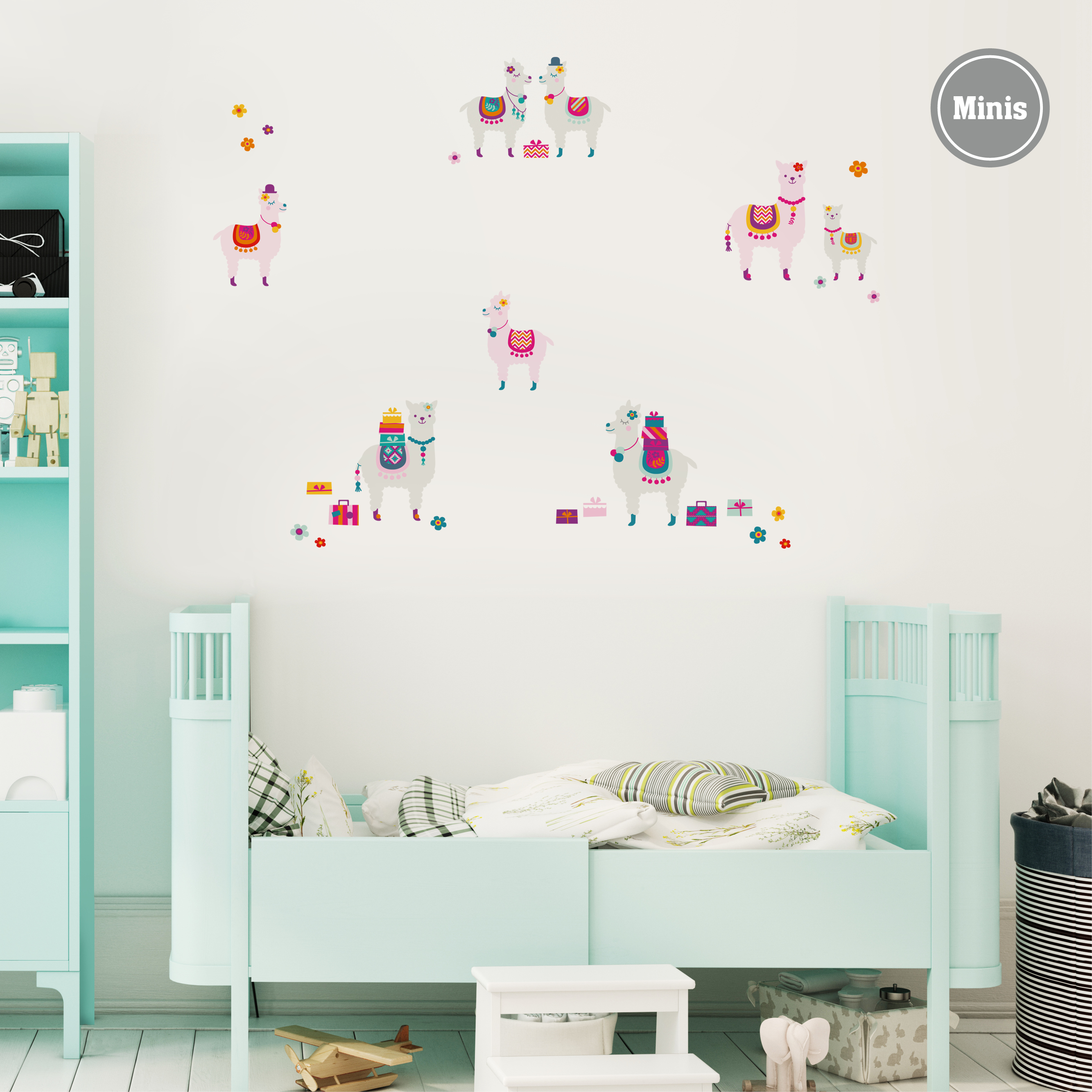 Wandtattoo Amazing Alpacas Wandtattoos Fur Madchen Wandtattoos Wandgestaltung Kinderzimmer Anna Wand Design