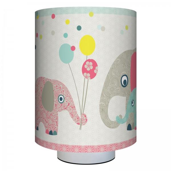 "anna wand Wandlampe, Wandleuchte Kinderzimmer ""Elefanten"" Tiere - Junge & Mädchen - Rot/Blau/Beige"