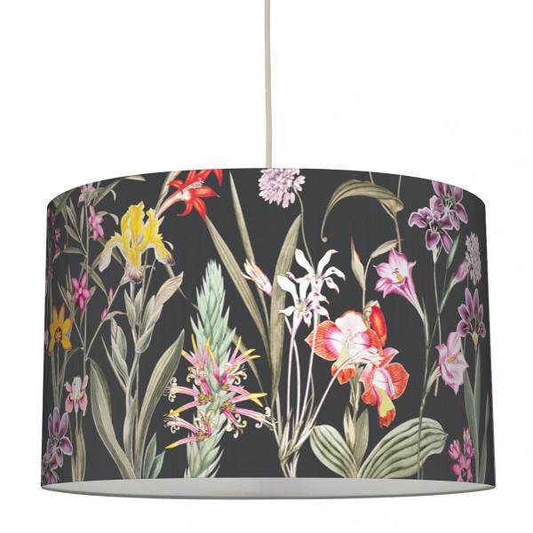 anna wand lampe hängelampe lampenschirm schwarz blumen wohnzimmer deko küche flur