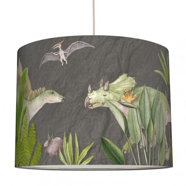 anna wand lampe hängelampe lampenschirm kinderzimmer jungendzimmer dino dinosaurier grau junge mädchen.jpg