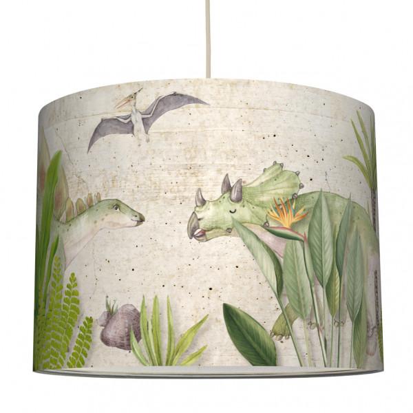 anna wand lampe hängelampe lampenschirm kinderzimmer jungendzimmer dino dinosaurier beige junge