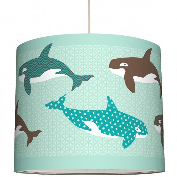 """anna wand Deckenlampe, Hängelampe """"Fisch Wal"""" - Blau"""