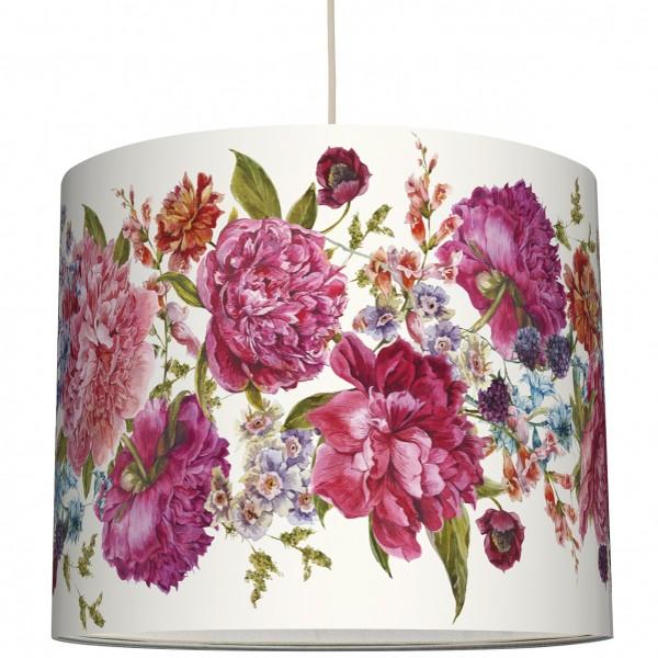 """anna wand Deckenlampe, Hängelampe """"Blumen Vintage"""" - Rosa/Weiss"""