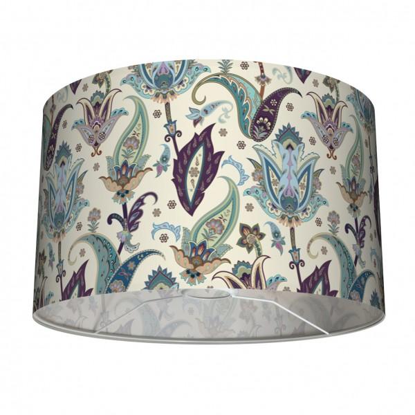 Tischleuchte Stehleuchte Lampenschirm Lila Jade Türkis 30 cm Blumen Indisch