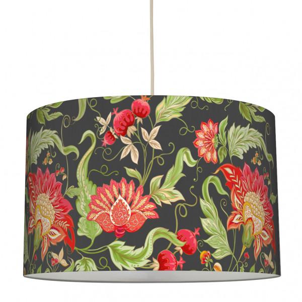 anna wand lampe hängelampe lampenschirm blumen grün rot anthrazit wohnzimmer küche flur jakobiner.