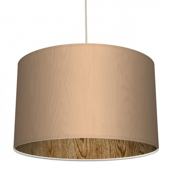 """Stoff-Lampenschirm """"Holz"""" Klassik/Holzstruktur-Innendruck"""
