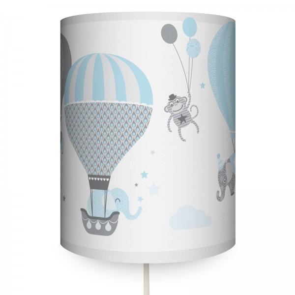 "anna wand Wandlampe, Wandleuchte Kinderzimmer ""Heißluftballon"" - Junge & Mädchen - Blau/Grau"