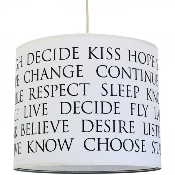 Lampenschirm Beautiful Words - sw