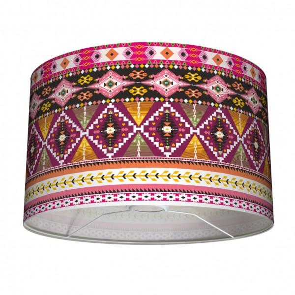 """Tisch- und Stehleuchten Lampenschirm """"Indianer"""" Rot Pink Rosa 30"""