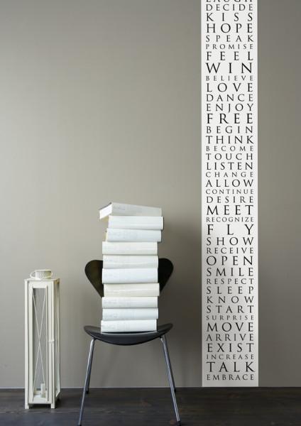 Wallpanel Beautiful Words schwarz/weiß