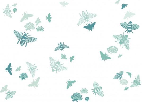 anna wand Wandtattoo Wandsticker Kinderzimmer Biene/Bienen - Junge/Mädchen - Mint/Türkis