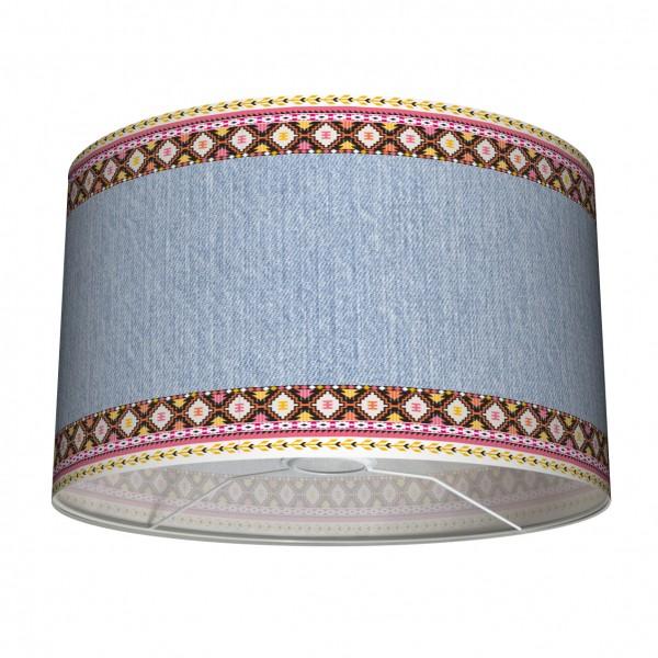 """Tisch- und Stehleuchten-Lampenschirm """"Jeansgirl"""" Mehrfarbig 30 cm"""