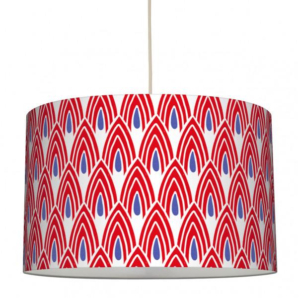 anna wand lampe hängelampe lampenschirm afrikanisch ethno boho rot blau wohnzimmer schlafzimmer flur