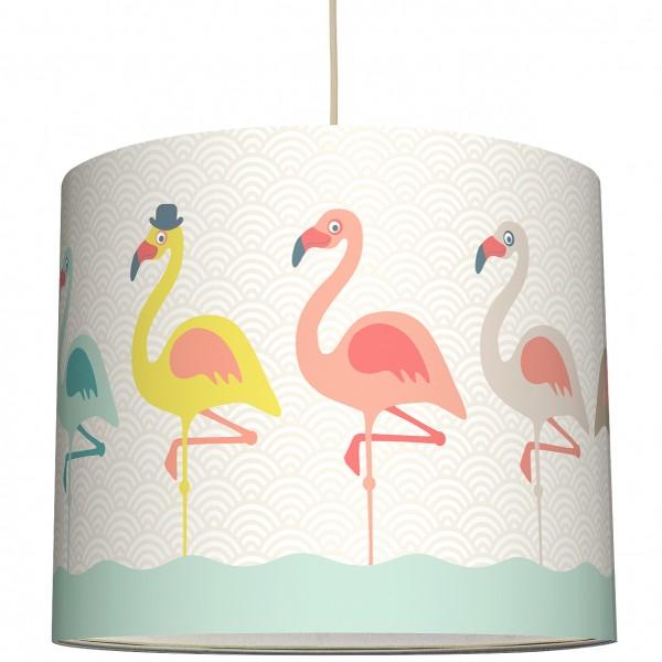 """anna wand Deckenlampe, Hängelampe """"Flamingo"""" - Rosa/Blau/Beige"""