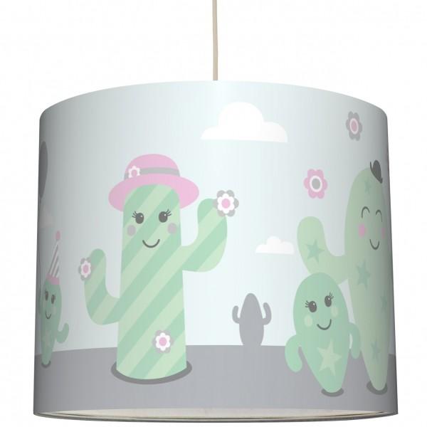 "anna wand Deckenlampe, Hängelampe ""Kaktus"" - Rosa/Grau/Grün"