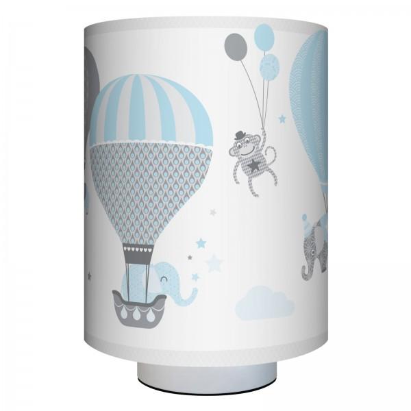 "Tischlampe Kinder ""Hot Air Balloons"" Blau/Grau"