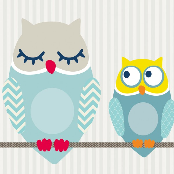 "Maxi-Bordüre ""Summer Owls"" Boys"