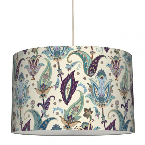 "Stoff-Lampenschirm ""Fantasy Flowers"" Mehrfarbig 30 x 20 cm"