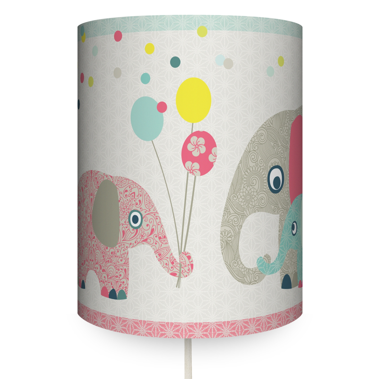 """Runde Wandlampe """"Family Elephant"""""""