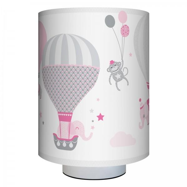 """anna wand Wandlampe, Wandleuchte Kinderzimmer """"Heißluftballon"""" - Junge & Mädchen - Rosa/Grau"""