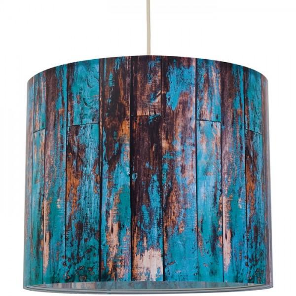 """anna wand Deckenlampe, Hängelampe """"Holz"""" - Braun/Blau"""