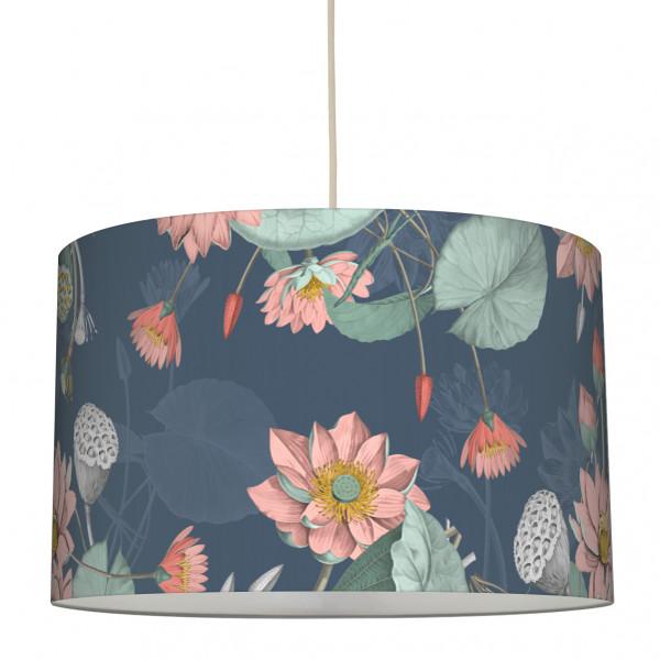anna wand lampe hängelampe lampenschirm waterlilly wohnzimmer küche flur seerosen..