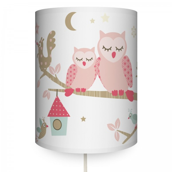 "Runde Wandlampe ""Funny Forest"" Girls"