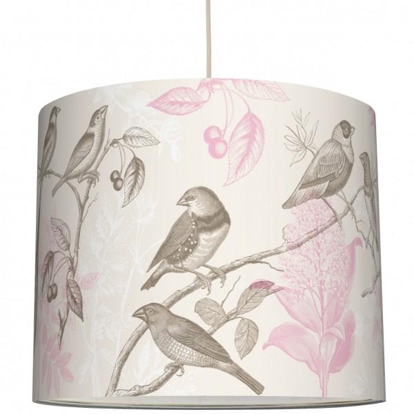 """anna wand Deckenlampe, Hängelampe """"Vogel Pflanze"""" - Beige/Rosa"""