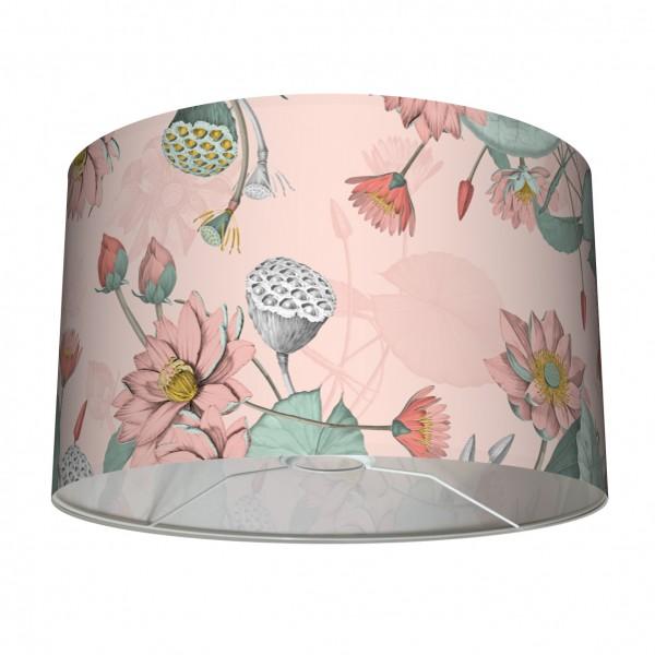 """Tisch- und Stehleuchten-Lampenschirm """"Seerosen"""" Apricot 30 x 20 cm"""