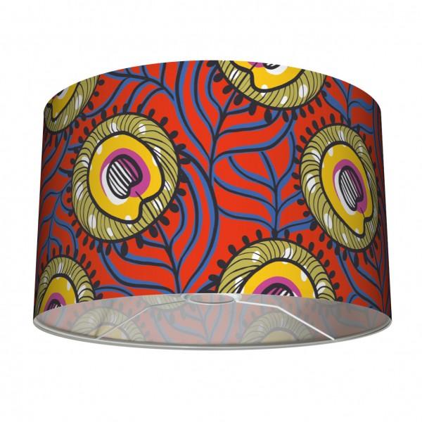 """Tischlampenschirm und Stehleuchten-Lampenschirm """"Afrikanisch"""" Rot/Gelb/Oliv 30"""