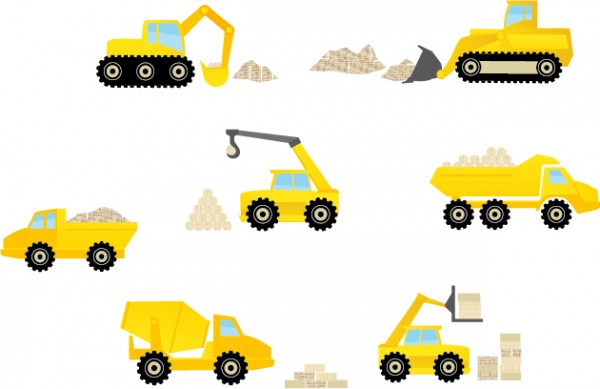 Wandsticker Kinder Bagger Baustelle Under Construction