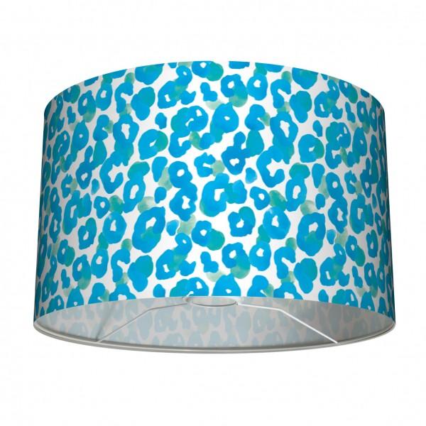 """Tisch- und Stehleuchten-Lampenschirm """"Leo-Light"""" Türkis/Blau 30 x 20 cm"""