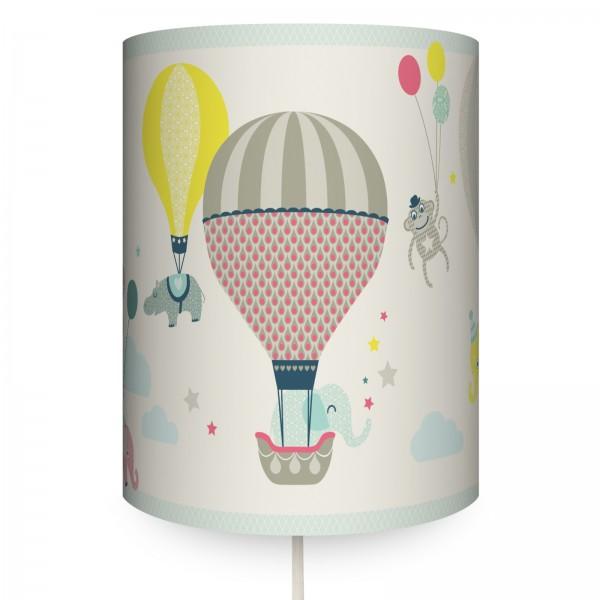 "anna wand Wandlampe, Wandleuchte Kinderzimmer ""Heißluftballon"" - Junge & Mädchen - Beige/Blau/Rot"