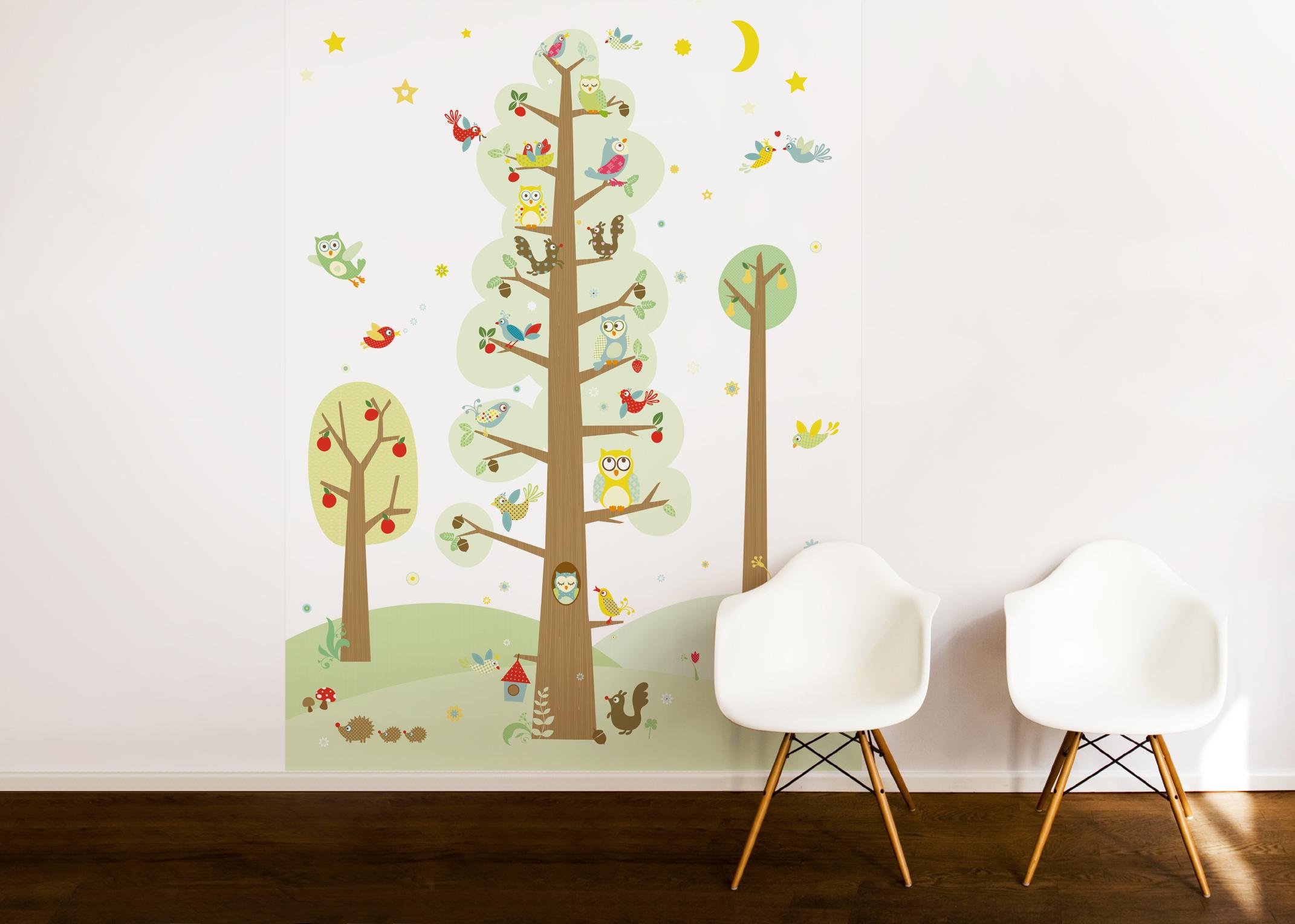"""Tapetenwandbild /Fototapete """"Funny Forest"""" 186 x 270 cm"""