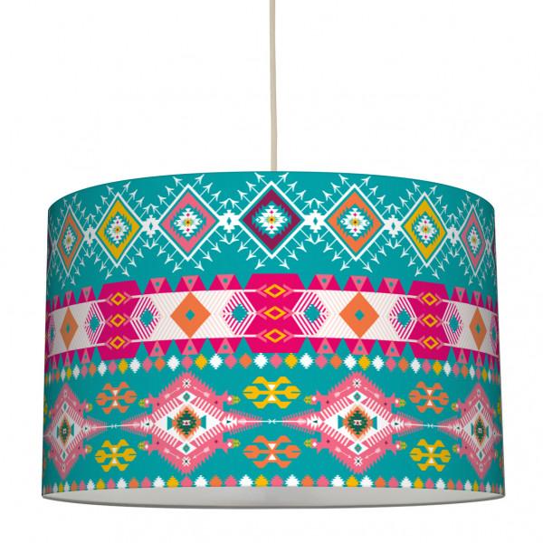"""Stoff-Lampenschirm """"Licht des Himmels"""" Mehrfarbig 30 x 20 cm"""