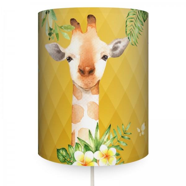 """Runde Wandlampe """"Jolly Jungle Giraffe"""" Curry"""
