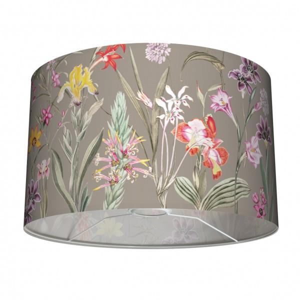 """Tisch- und Stehleuchten-Lampenschirm """"Botanical Garden"""" Taupe 30 x 20 cm"""