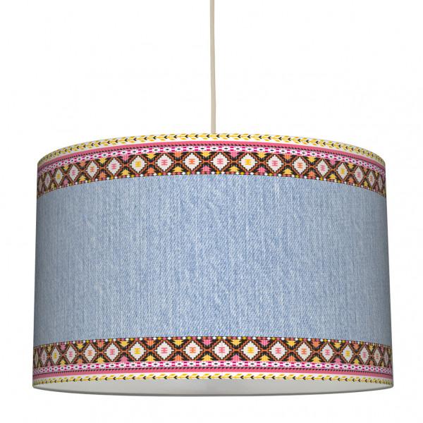 anna wand lampe hängelampe lampenschirm mädchen mädchenzimmer boho ethno azteken girl jeans rosa gelb