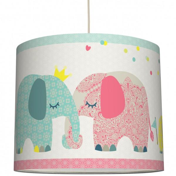 """anna wand Deckenlampe, Hängelampe Junge Mädchen """"Elefant"""" - Blau/Rot"""