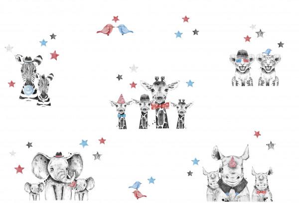 anna wand wandsticker wandtattoos sticker aufkleber kleine wilde löwe tiere babytiere kinderzimmer babyzimmer baby junge mädchen.