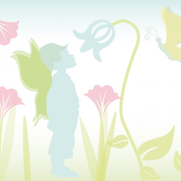 "anna wand Bordüre, Kinderzimmer Fee ""Elfe"" - Junge & Mädchen - Pastell"
