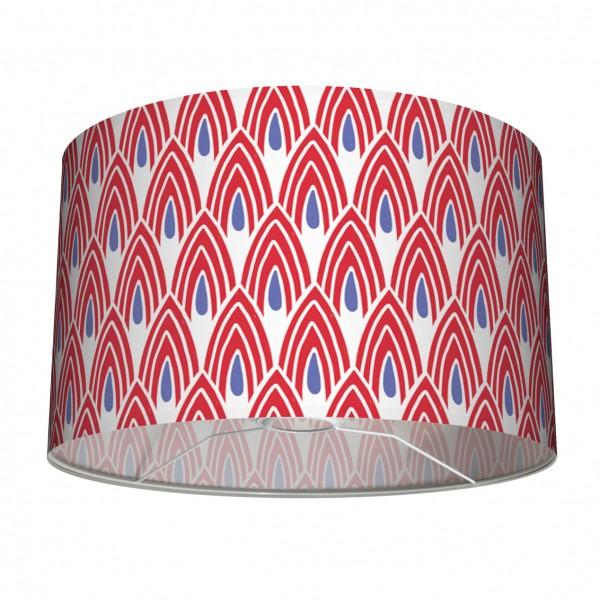 """Lampenschirm Tischleuchte Stehleuchten """"Afrikanisches Muster"""" Blau/Rot/Weiss 30 cm"""
