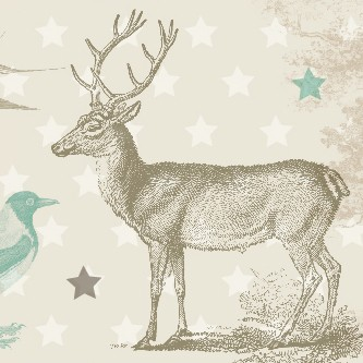 "Selbstklebende Bordüre Waldtiere ""Forest Animals"""