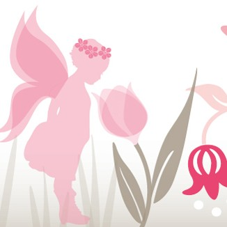 "anna wand Bordüre Kinderzimmer ""Pflanzen"" Fee, Feen, Elfe selbstklebend - Junge & Mädchen - Rosa/Pink"