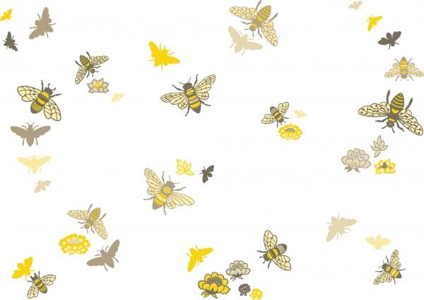 anna wand Wandtattoo Wandsticker Kinderzimmer Biene/Bienen - Junge/Mädchen - Beige/Gelb